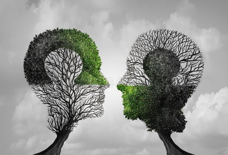 心理学了解的概念 库存例证