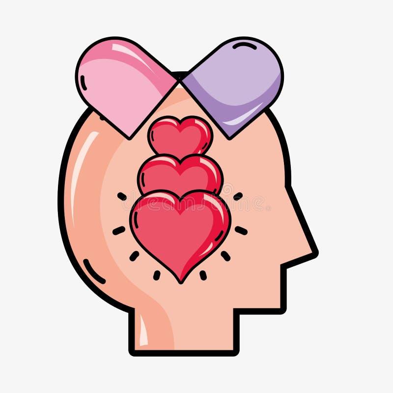 心理学分析疗法启发设计 向量例证