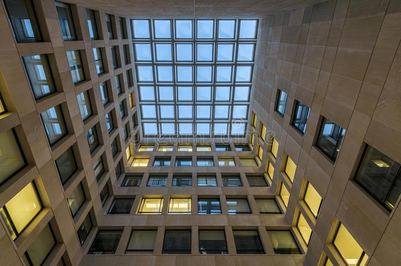 心理学大厦中心法院 库存图片