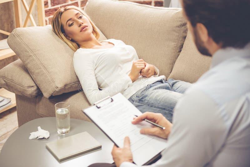 心理学家的妇女 免版税库存图片