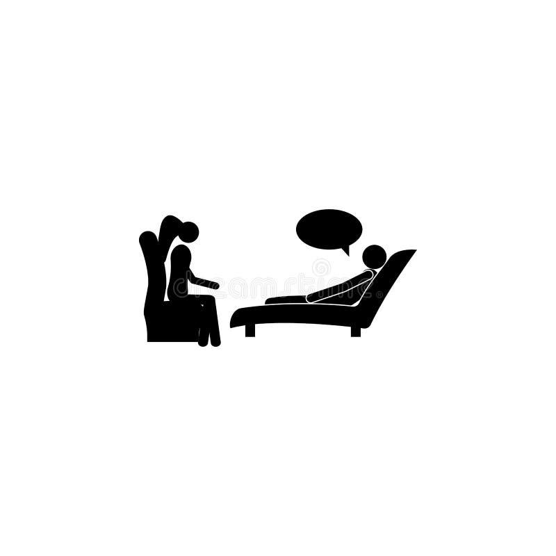 心理学家象的招待会的患者 患者的元素医院象的 优质质量图形设计 标志, 库存例证