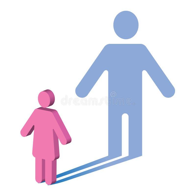心理学性别身分女性对男性 向量例证