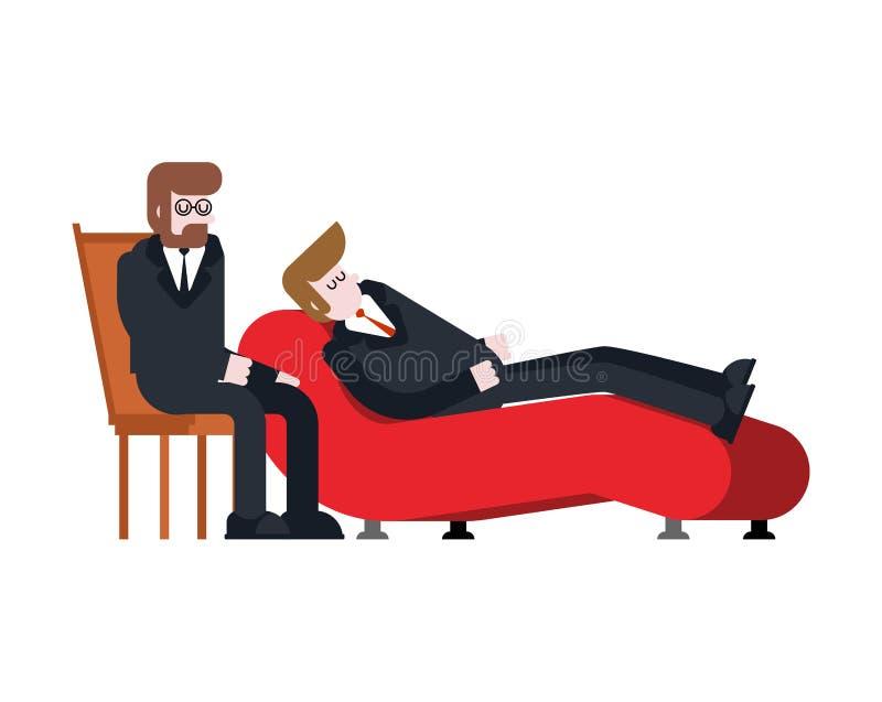心理治疗家商人和心理学家Vect的招待会 皇族释放例证