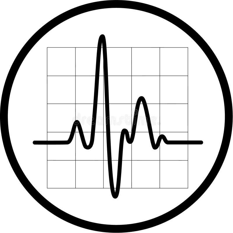 心电图图标向量 向量例证