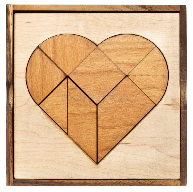 心脏七巧板 免版税库存图片
