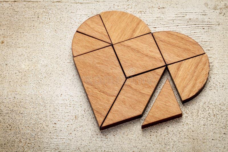 心脏七巧板 库存照片