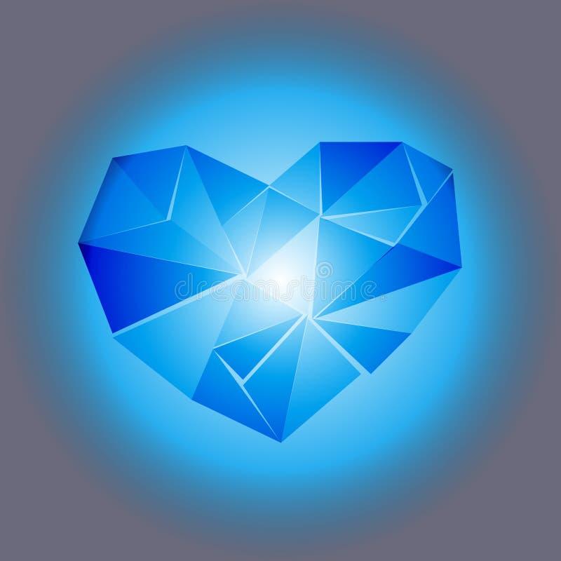 心脏传染媒介例证摘要背景美好的多角形  库存例证