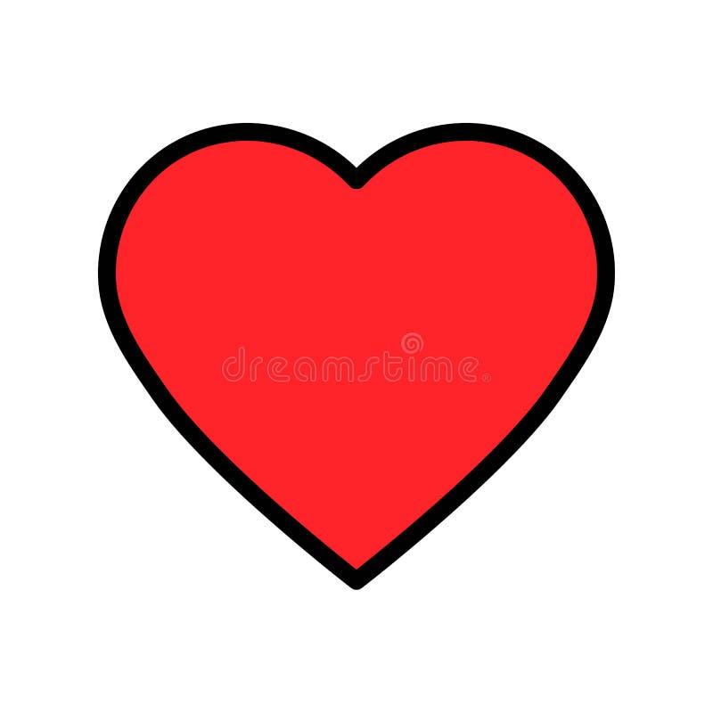 心脏传染媒介例证,填装了样式象编辑可能的概述 向量例证