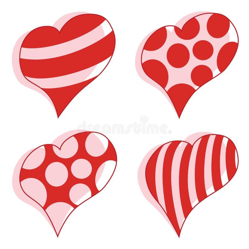 心脏传染媒介华伦泰被设置 向量例证