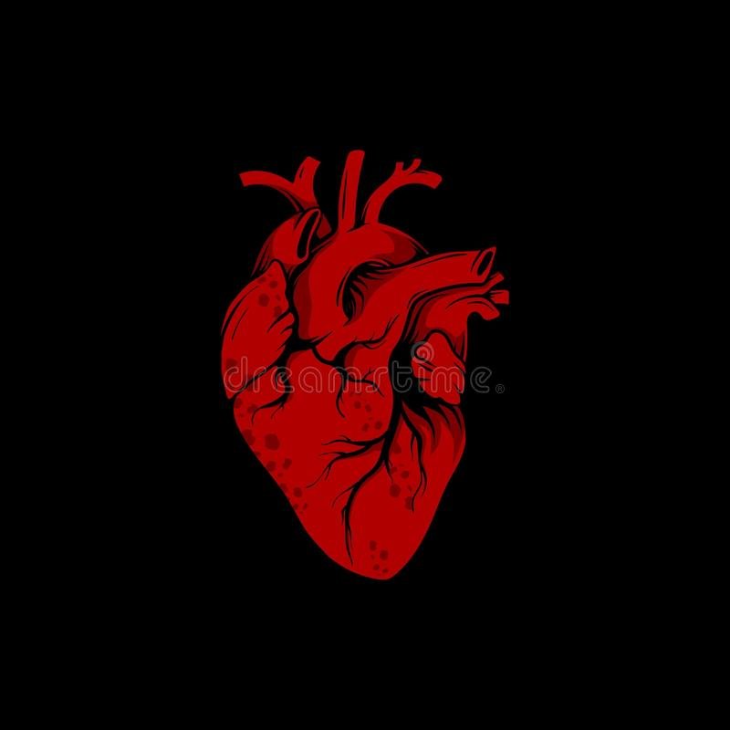 心脏例证-编辑可能,颜色能改变 库存例证