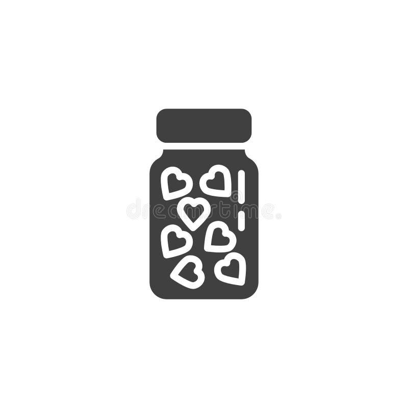 心脏医学瓶传染媒介象 向量例证
