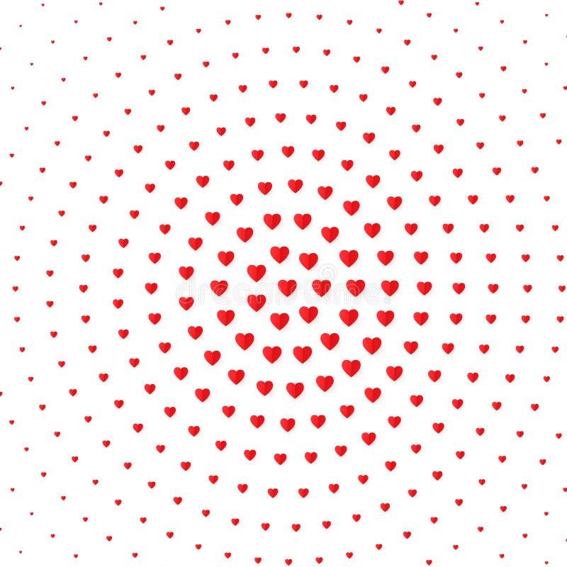 心脏半音颜色背景 情人节和婚姻邀请卡片、浪漫史和爱 向量 库存例证