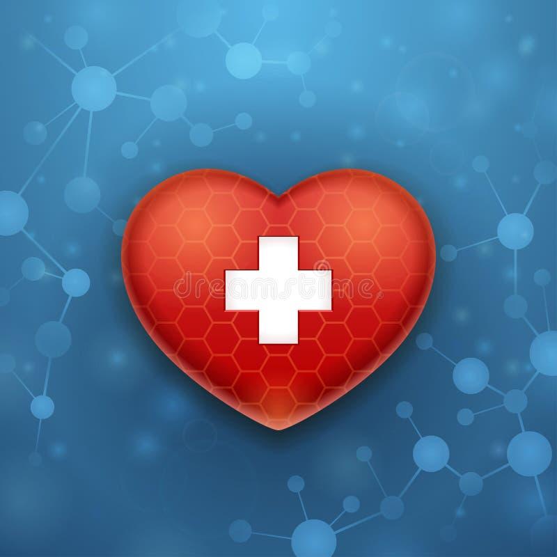 心脏和帮助 向量例证