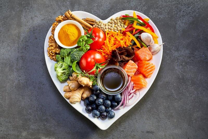 心脏和心血管系统的健康饮食 免版税库存照片