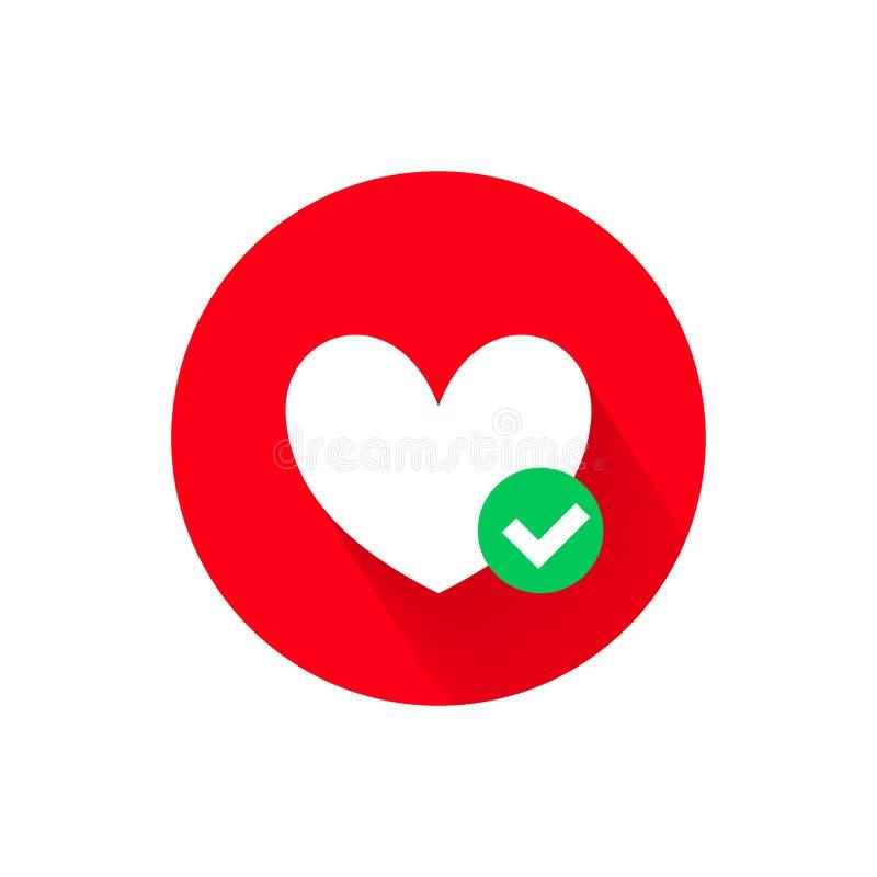 心脏和绿色壁虱传染媒介象 库存例证