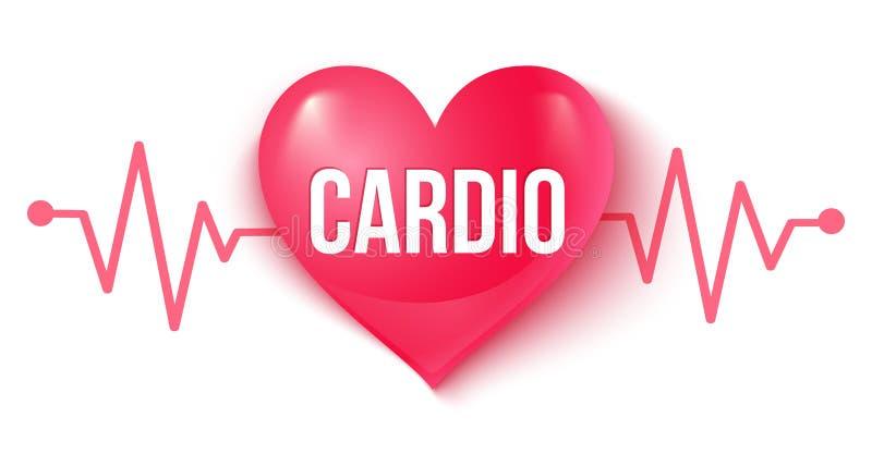 心脏和脉冲 库存例证