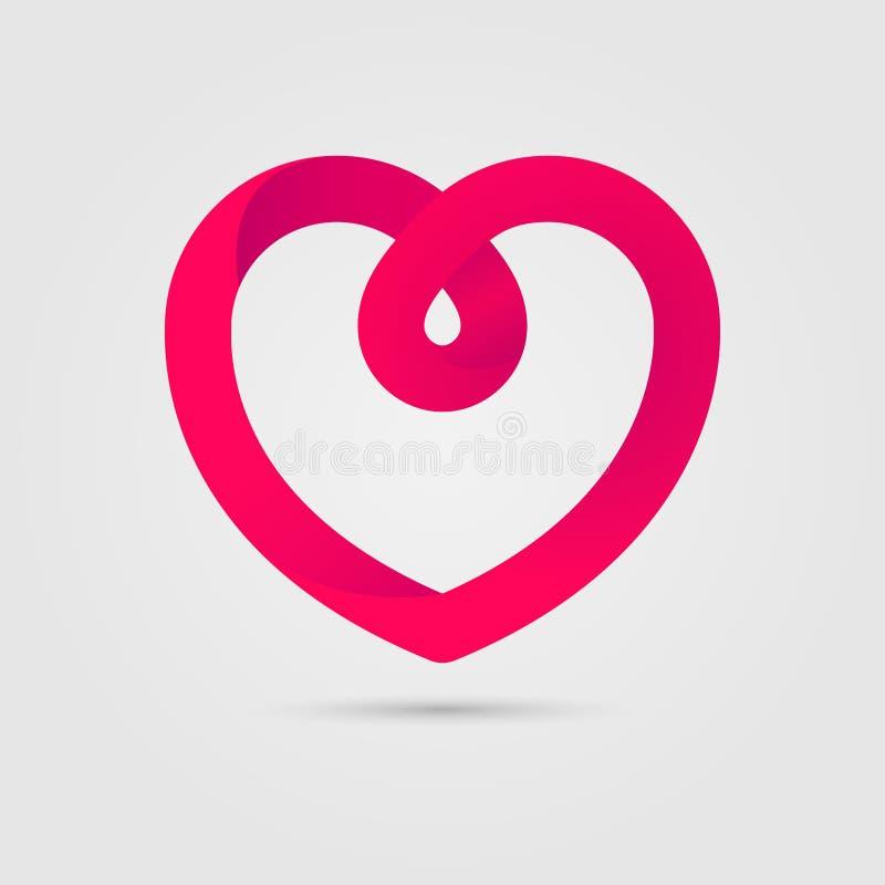 心脏商标设计传染媒介例证 St情人节爱标志 皇族释放例证