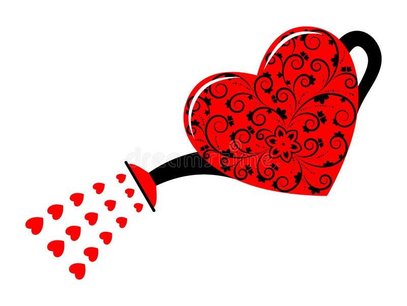 心脏喷壶 向量例证