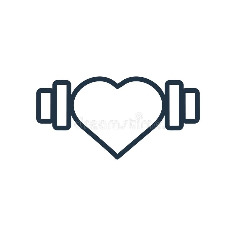 心脏在白色背景隔绝的象传染媒介,心脏标志 库存例证