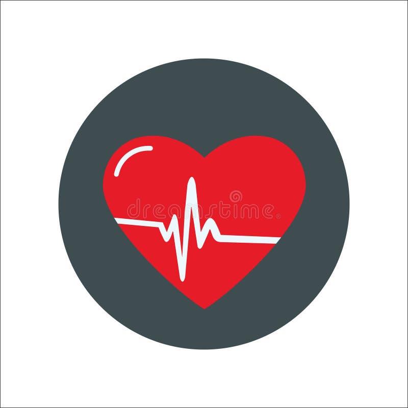 心脏平的象传染媒介 库存例证