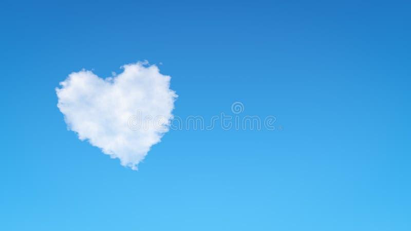 心脏形状云彩 库存例证