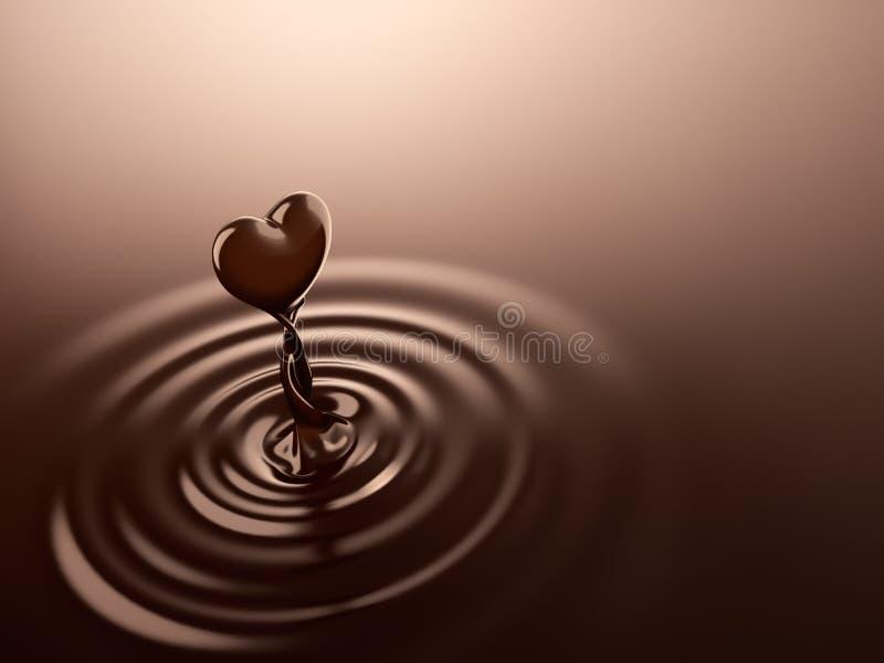 心脏形状巧克力 库存例证