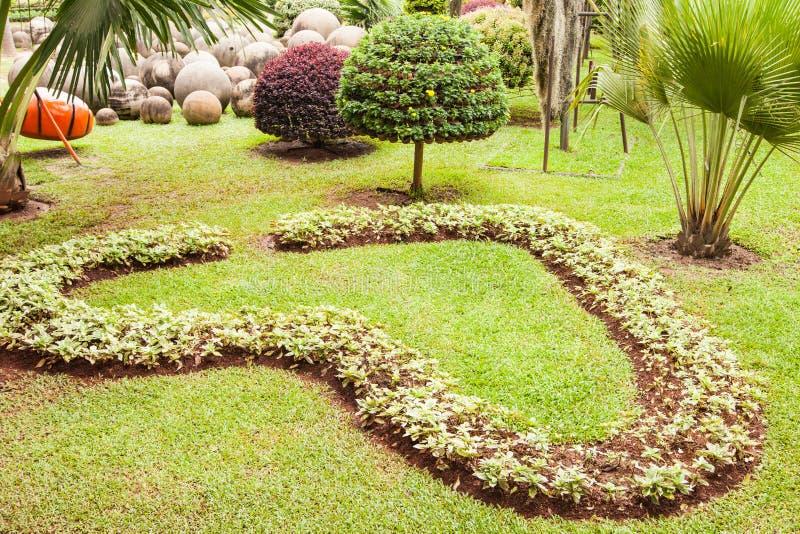 心脏形状庭院 图库摄影