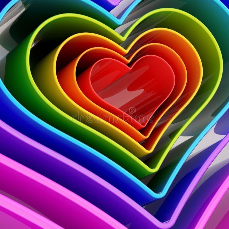 心脏形状形象摘要背景 向量例证