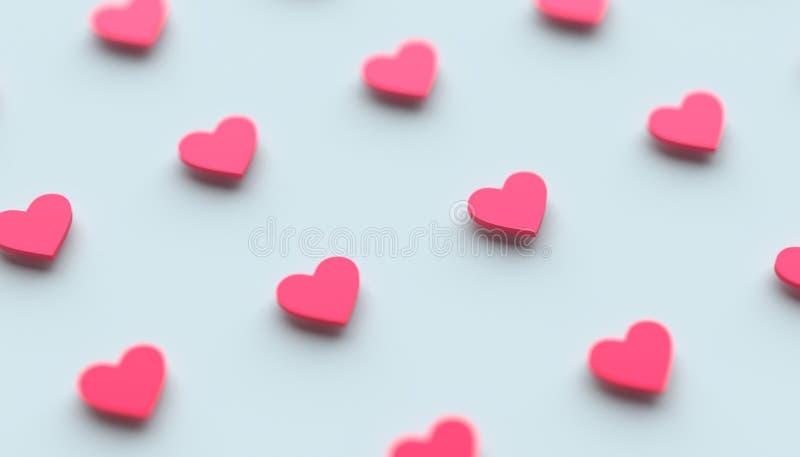 心脏形状抽象3D翻译  库存照片