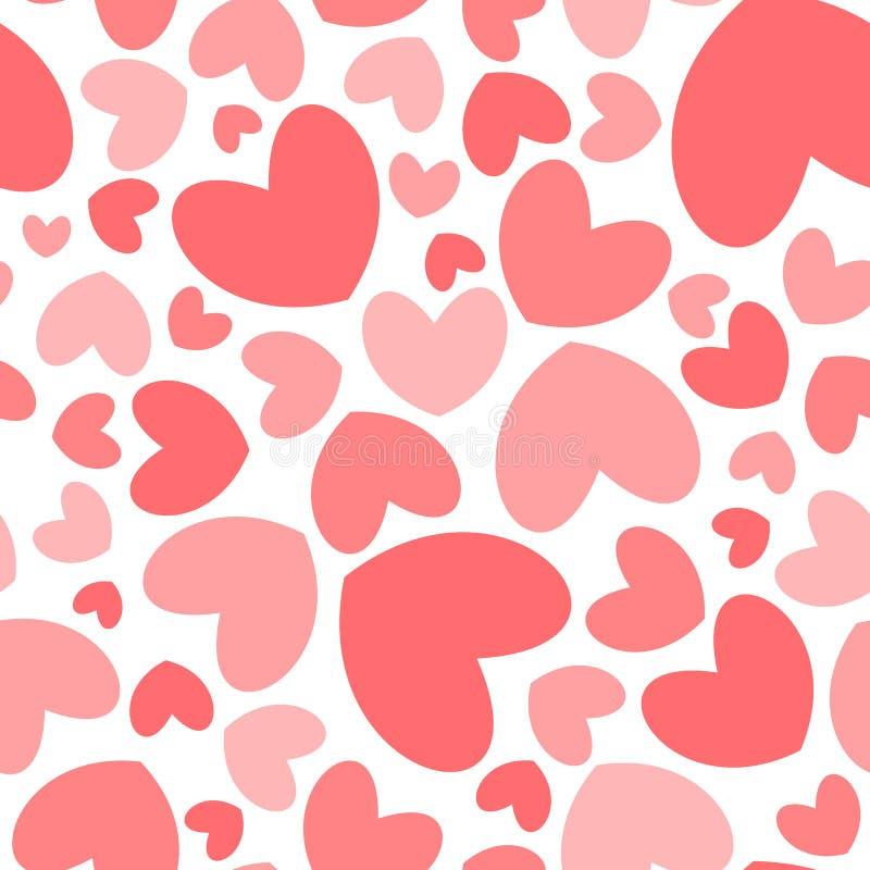 心脏形状无缝的样式 向量例证
