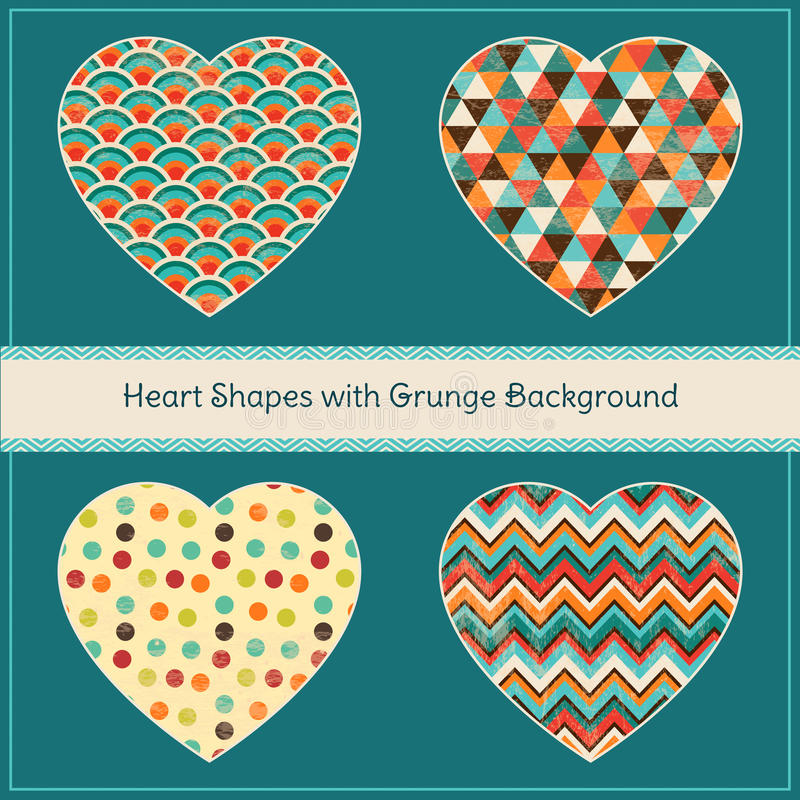 心脏形状有几何难看的东西背景 向量例证