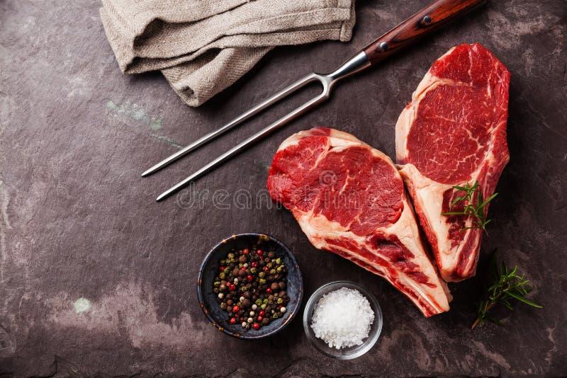 心脏形状生肉牛排 库存图片