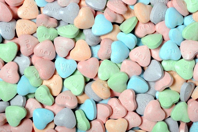 心脏形状糖果 免版税库存图片