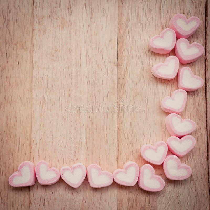 心脏形状蛋白软糖 库存图片