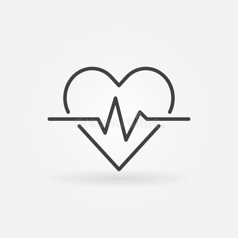 心脏心电图概述象-导航心跳概念标志图片