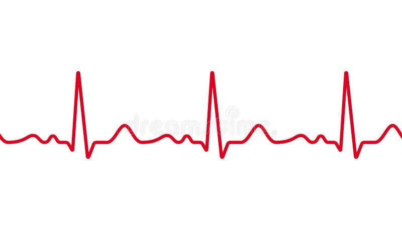 心脏心电图脉冲传染媒介心跳 皇族释放例证