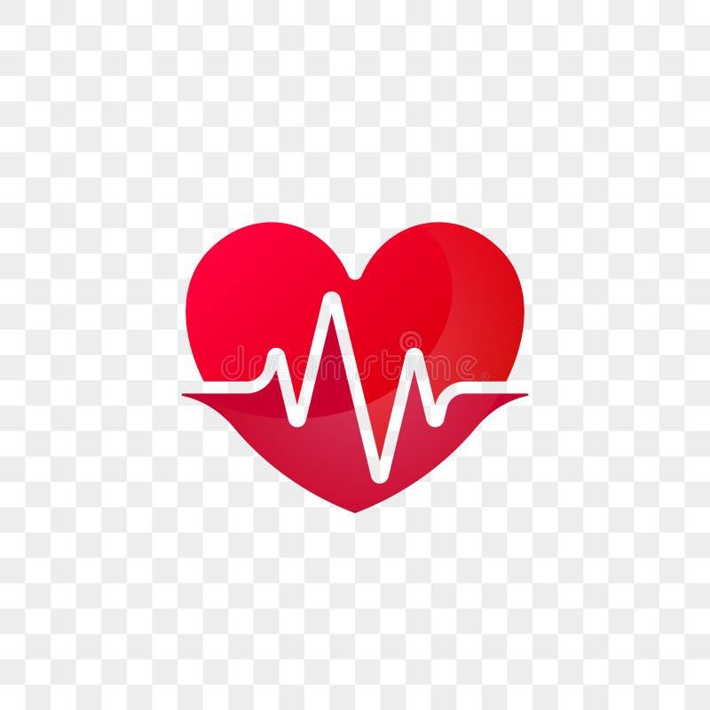 心脏心跳商标传染媒介象 皇族释放例证