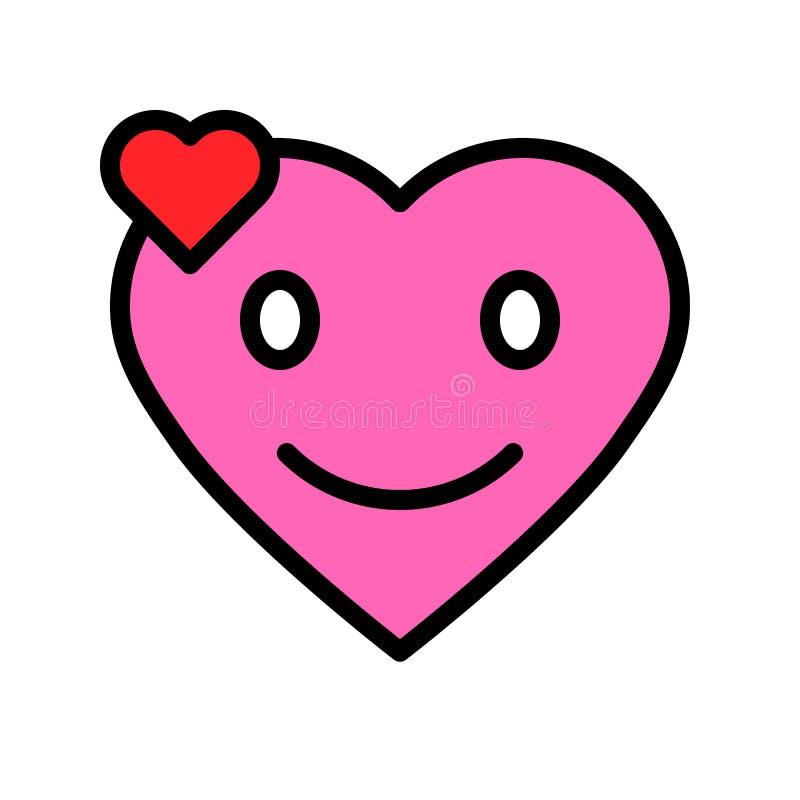 心脏意思号传染媒介例证,填装了样式象编辑可能的概述 向量例证