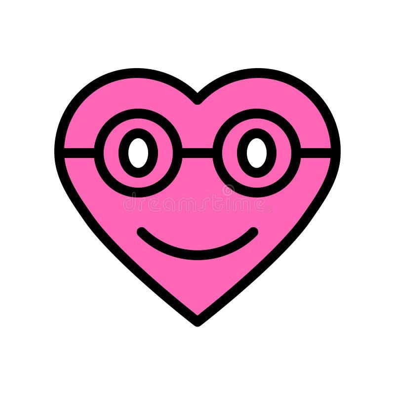心脏意思号传染媒介例证,填装了样式象编辑可能的概述 库存例证