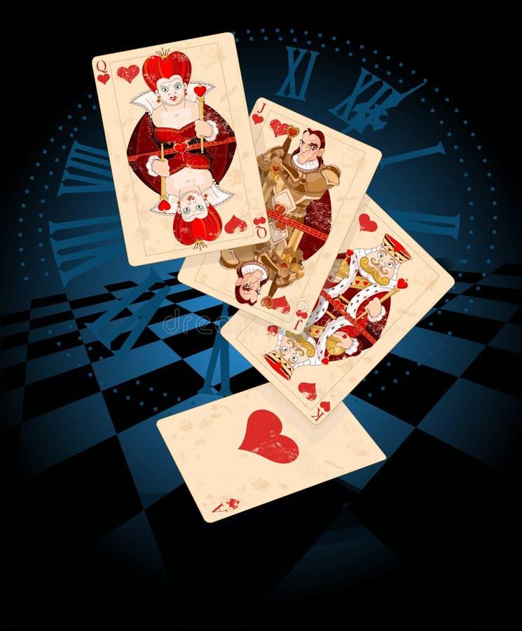 心脏戏剧卡片 向量例证