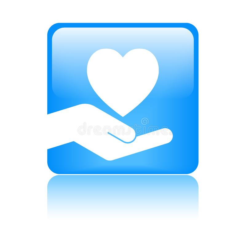 心脏手中商标 向量例证