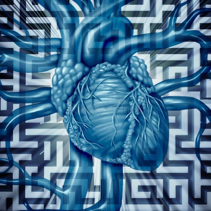 心脏挑战 库存例证