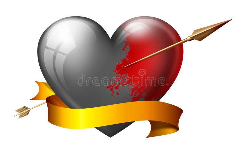 心脏改变肤色 皇族释放例证