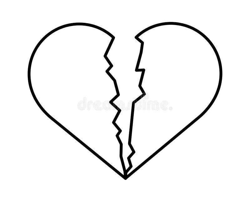 心脏断裂被隔绝的象 向量例证