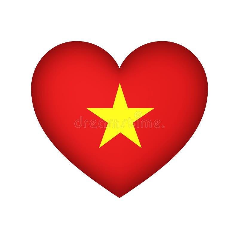 心脏旗子越南传染媒介例证设计 向量例证