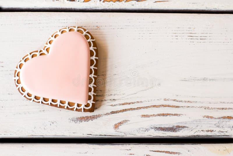 心脏曲奇饼顶视图  库存照片