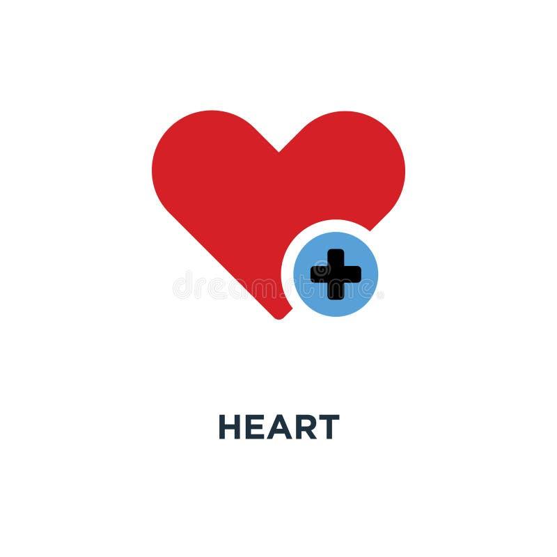 心脏标志象 增加恋人按钮概念标志设计,正lo 向量例证