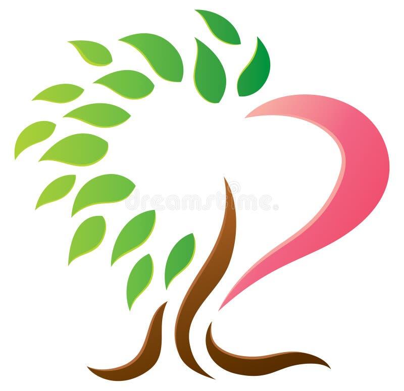 心脏树商标 向量例证