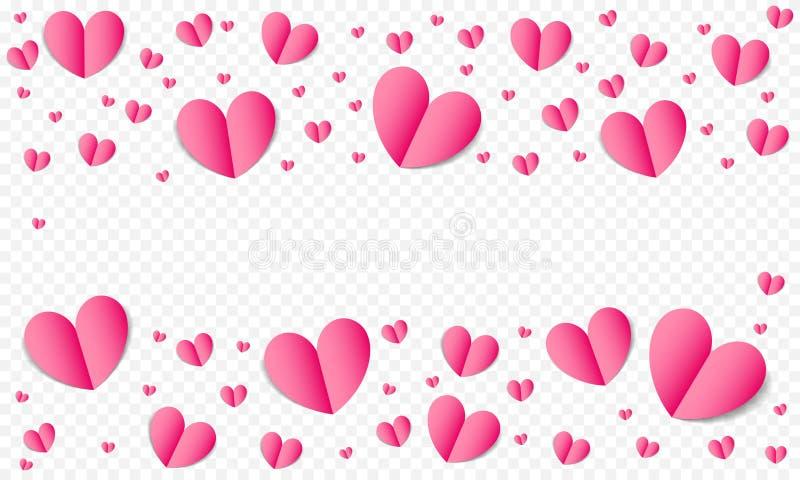 心脏样式背景为情人节,保存日期婚礼贺卡或邀请设计模板 传染媒介纸谷 库存例证