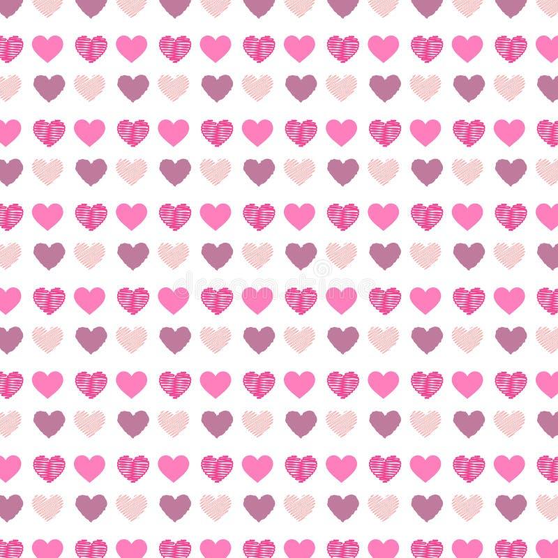 心脏样式背景 向量例证